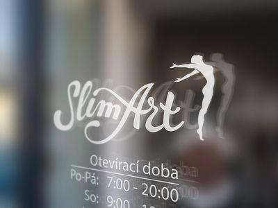 SlimArt logo mock up