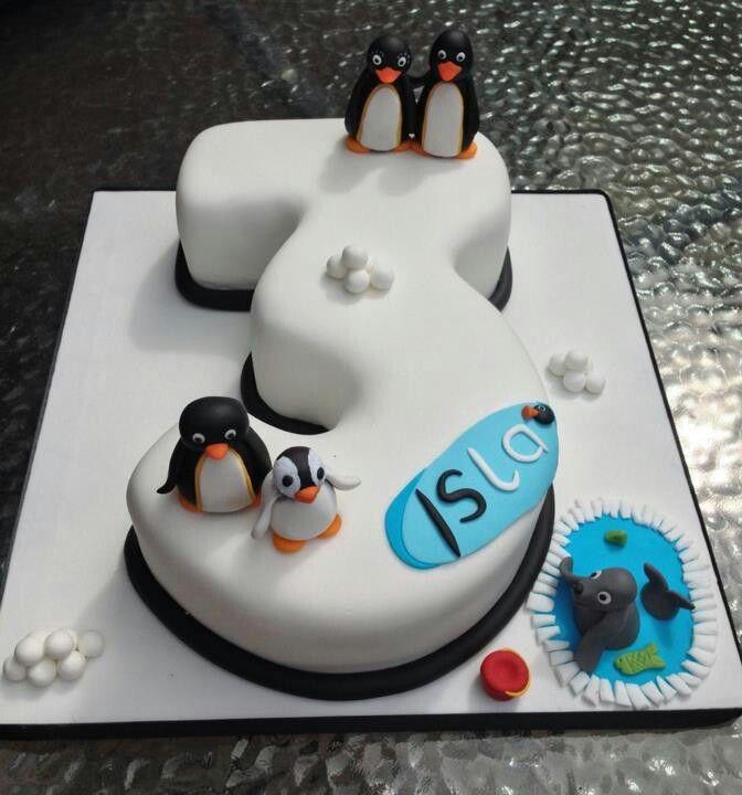 Pingu Birthday Cake                                                                                                                                                                                 Mais