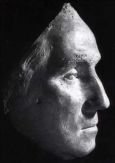 George Washington's Life Mask (1785) by Jean Antoine Houdon when Washington was 53 years old.