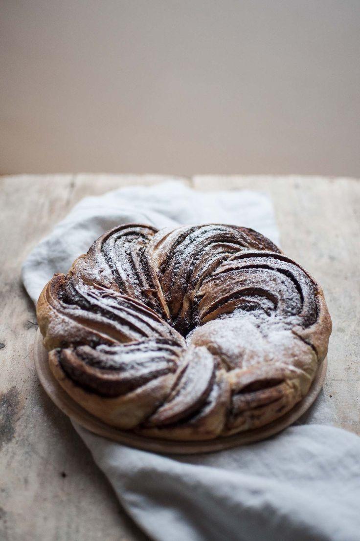 Sourdough cinnamon + chocolate twist bread recipe, perfect for brunch or breakfast.