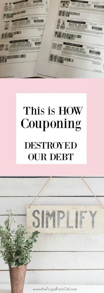 We had no idea paying off debt was a thing, until I was laid off. Couponing was the best thing to get us started on crushing our debt. Here's how we did it. #finances #debtfree #howto #inspiration