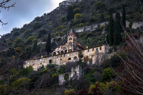 Monastery of Pantanassa at Mystras (Sparta, Greece)