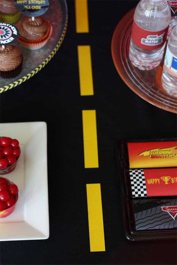 cars dessert table ideas- road down the middle of your table  dessert table ideas, cars party ideas