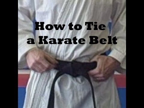 How to tie your karate belt The first time   I did start my GKR back in 1997 during   tying my belt I did get confused.  It was overlapping at the back lol!! :)