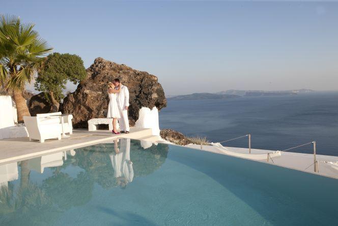 #wedding at #Kirini Hotel #Santorini by StellaAndMoscha.com