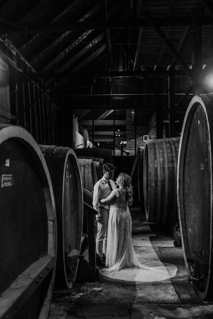 Barrels in the Old Winery | Photography by Anitra Wells