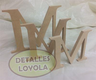 Letras para decoración de eventos o decoración de habitaciones. Detalles Loyola