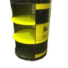 Bidon d 39 huile recycl en meuble avec tag res d co for Rayonnage pour garage
