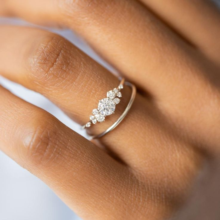 Diamond Snowdrift Ring Made To Order In 2020 Best Engagement
