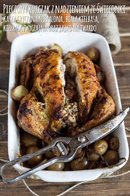 Propozycja na Wielkanocny obiad - Pieczony kurczak z nadzieniem ze święconki http://gotowaniezpasja.pl/…/371-pieczony-kurczak-z-nadzieni… #foodphotography #foodporn #fotografiakulinarna #blogkulinarny #gotowaniezpasją #pawełłukasik #grzegorztargosz #naszkurczak