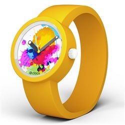 O Clock Watch - Splash One dial with Yellow strap