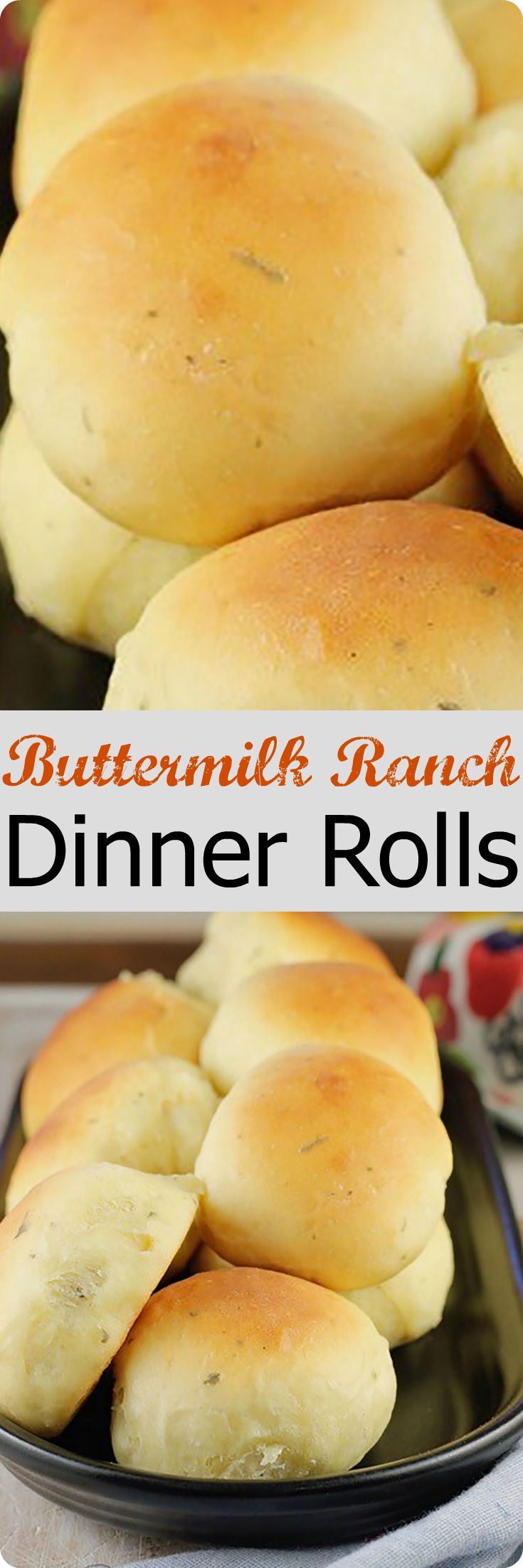 Buttermilk Ranch Dinner Rolls | A light and delicious homemade roll recipe packed with tangy flavors. They make a great addition to both every day and holiday meals. Find recipe at redstaryeast.com.