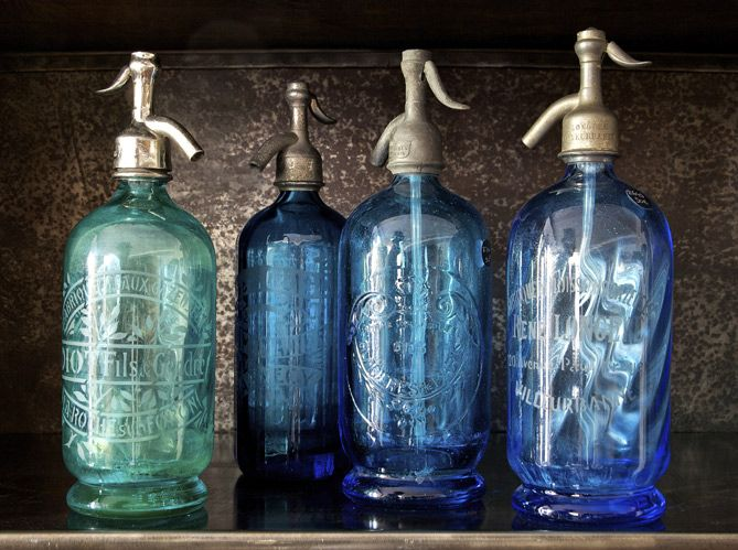Les siphons gravés, petite touche vintage