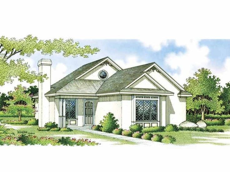 Eplans bungalow house plan smart layout 984 square for Layout design of bungalows