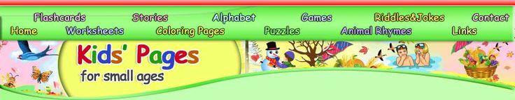 www.kids-pages.com Veel, heel veel werkbladen en flitskaarten, kaarten om spelletjes van te maken van élk onderwerp dat je maar wilt  én kleurplaten, GRATIS!