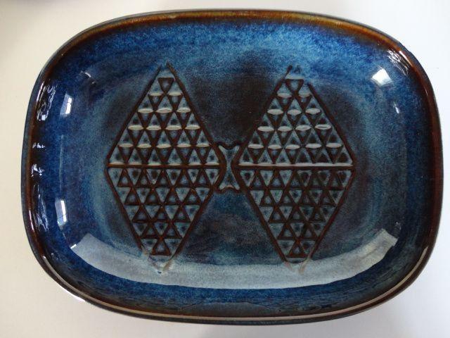 Stort fad,  EJ 64 - Søholm - Keramik og stentøj