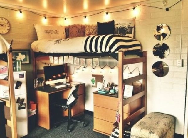 Hipster bedroom tumblr bedrooms pinterest dream - Cool dorm room ideas ...