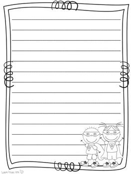 Superhero Themed Writing Paper - a variety of color/line art for your students and teachers to use for writing - TpT