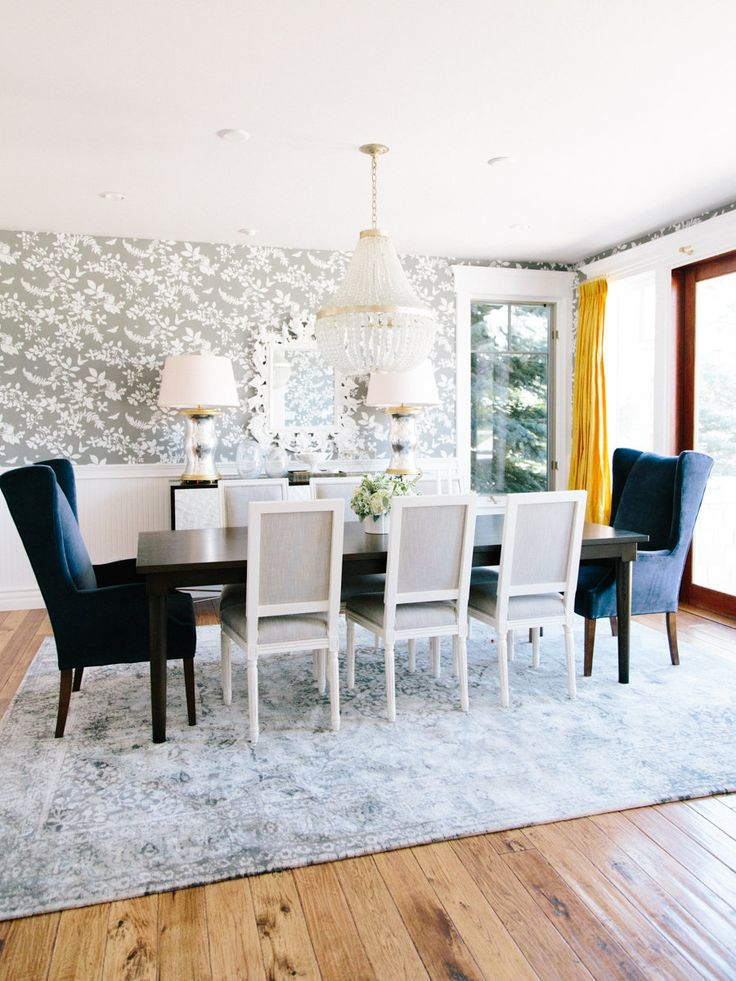 Formal Dining Tour with Mustard Yellow Drapes