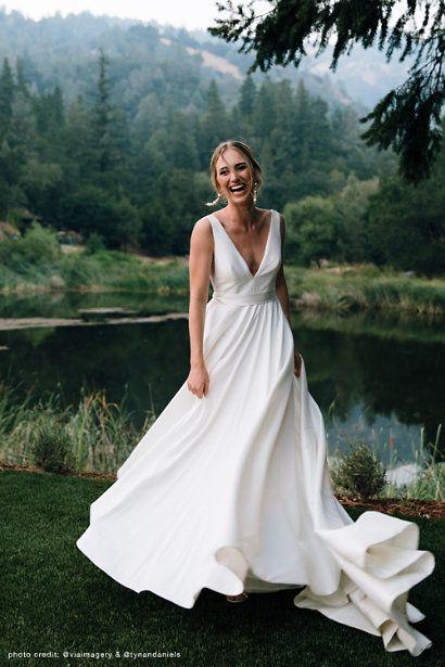 Jenny Yoo By Octavia Gown In Ivory by Jenny Yoo – Ivory – Size: 18