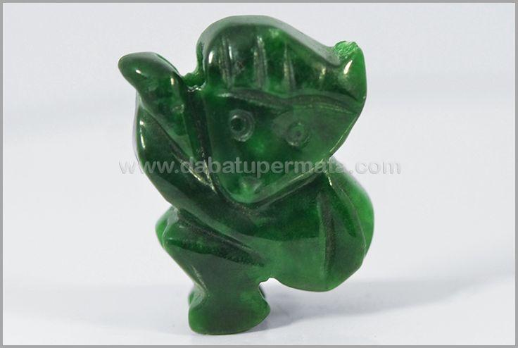 Beautiful Green JADE/GIOK Burma Monkey Carving - GU 035