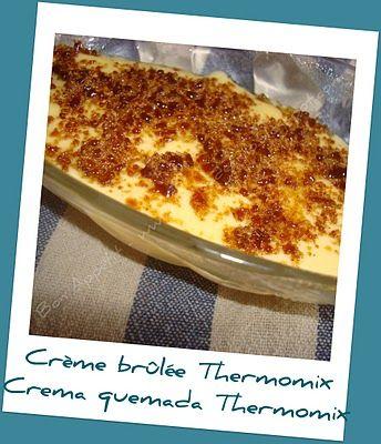 Crème brûlée Thermomix - Crema quemada Thermomix