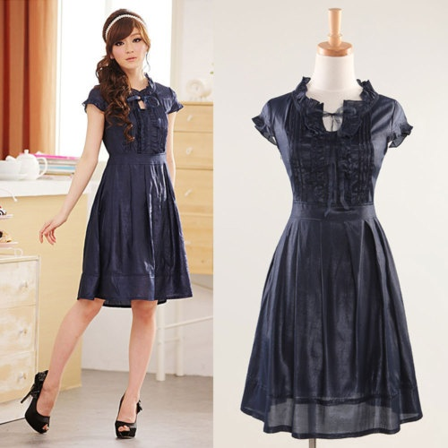 Modest Cute Women's Clothing Modest blue cute dress Modest
