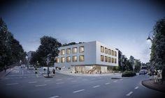 Wettbewerb Musikschule Lüdenscheid WW+ architektur + management sàrl   2016 Project website: http://www.rendertaxi.de/en/references/projects/01398.wettbewerb-musikschule-luedenscheid.html #cultural #education