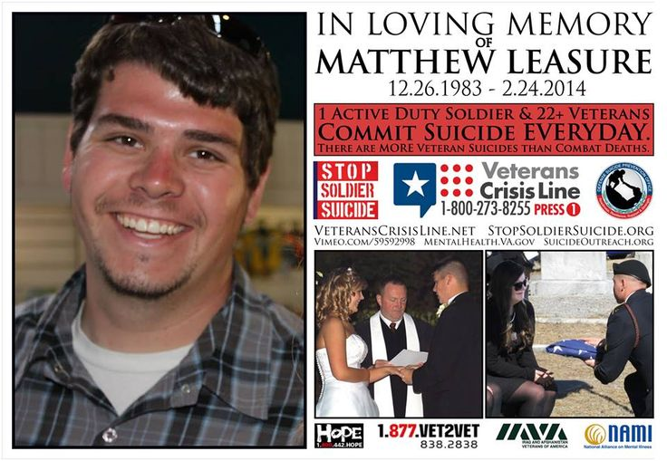 RIP to Matthew Leasure. A brave warrior who lost his fight but served our country with honor. We memorialize him here. And ask for support for his family.