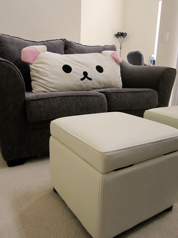 Magnificent Korilakkuma Pillow With Matching Ottomans The Pillow Is Machost Co Dining Chair Design Ideas Machostcouk