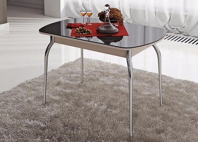Стеклянный стол обеденный раздвижной со стеклом Милан 5