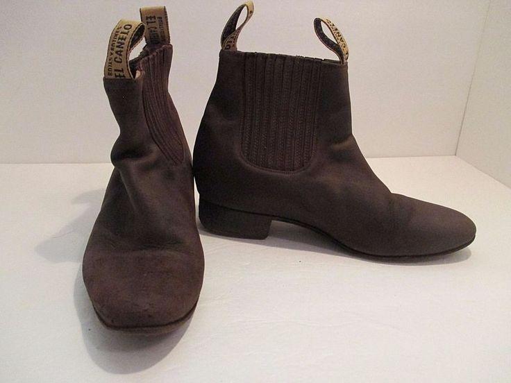 El Canelo Men's Half Ankle Very Worn Leather Booties Western Wear Brown Size 7 #ElCanelo #CowboyWestern