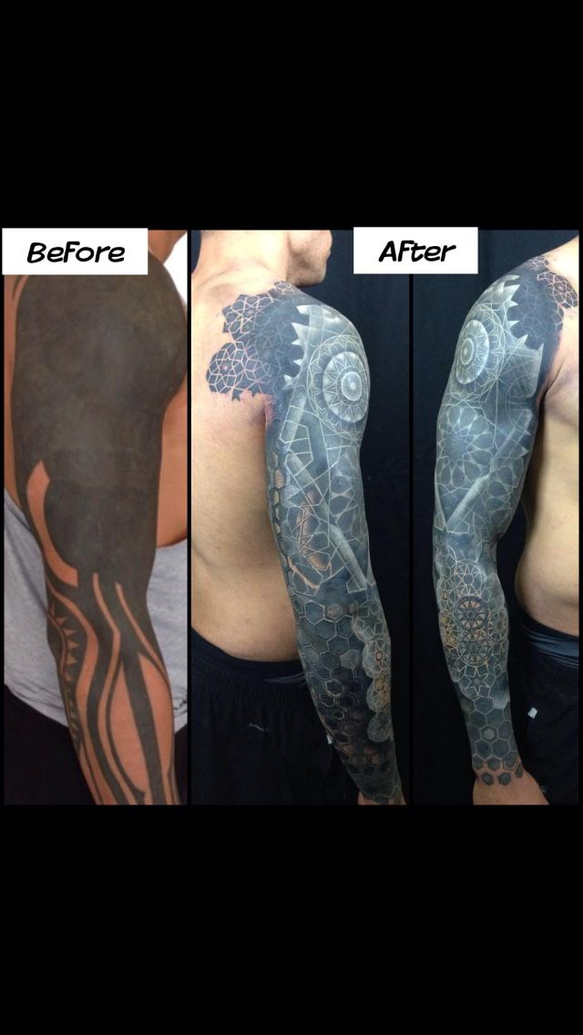 Sick! Impossible black cover-up. Nathan Mould from Artisan Pittsburgh