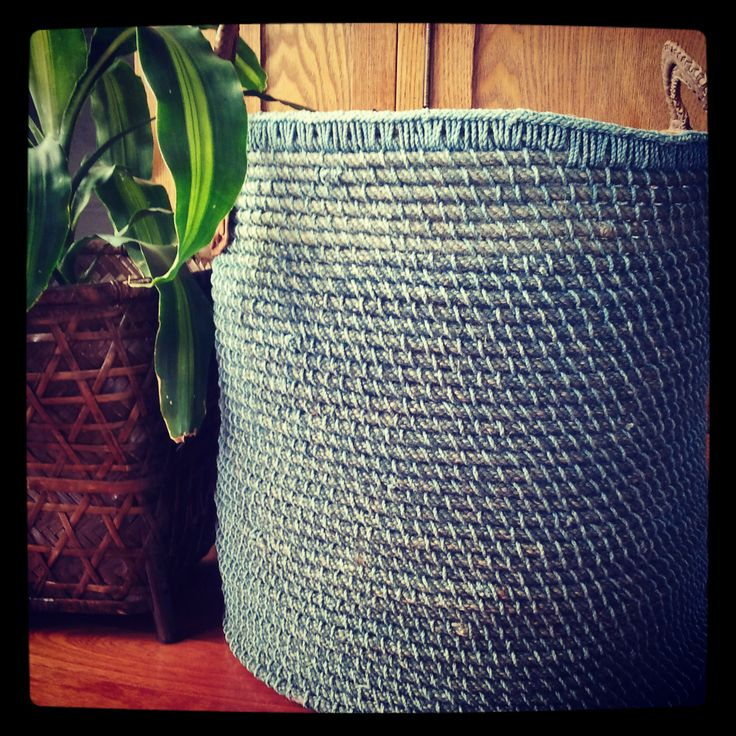 My favourite basket on our site, the handwoven Indigo basket, originally it is used as a laundry basket, but hey...that's not what I have done?.. by placing a pot next to it or even inside it, you could use it to store just about anything & it can still look quite stylish, contemporary & rustic!! Don't you think so ?