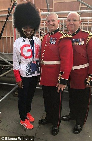 GB athletes pose in bearskins as others post pictures from palace
