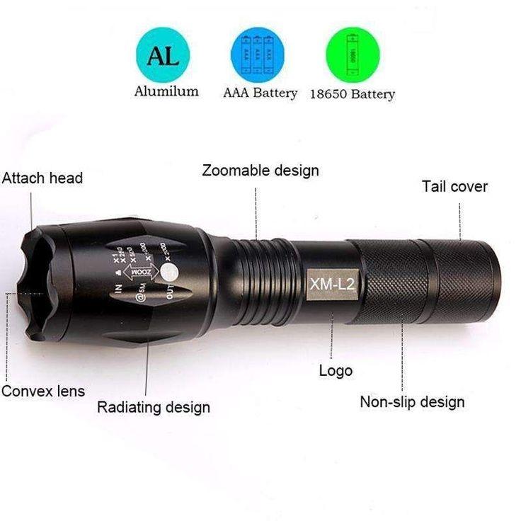 Tactical LED Flashlight 8000 Lumens