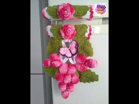 PAP de crochê Pegador de armário e geladeira Julieta por JNY Crochê - YouTube