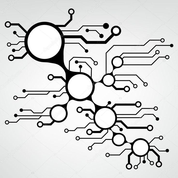 ? Bstract Leiterplatte techno Hintergrund. Abbildungmuster des Vektor Eps10   – Mech