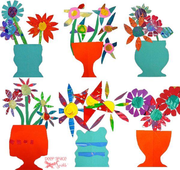 Paper Cut Flower Art Project Kids Arts Crafts