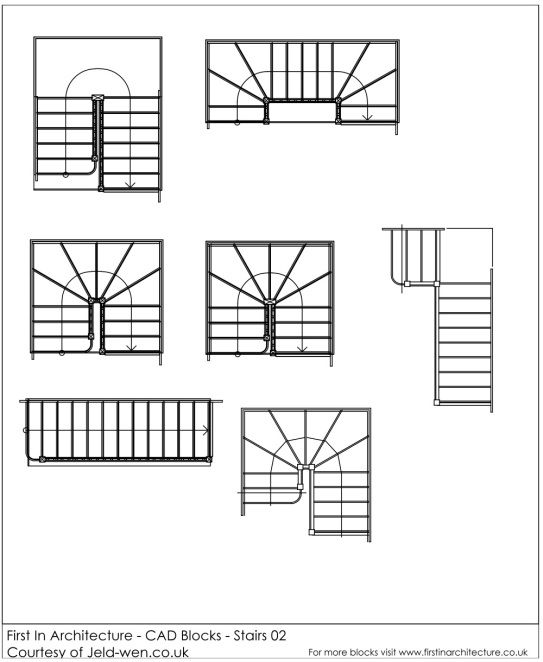 free cad blocks  u2013 stairs 02