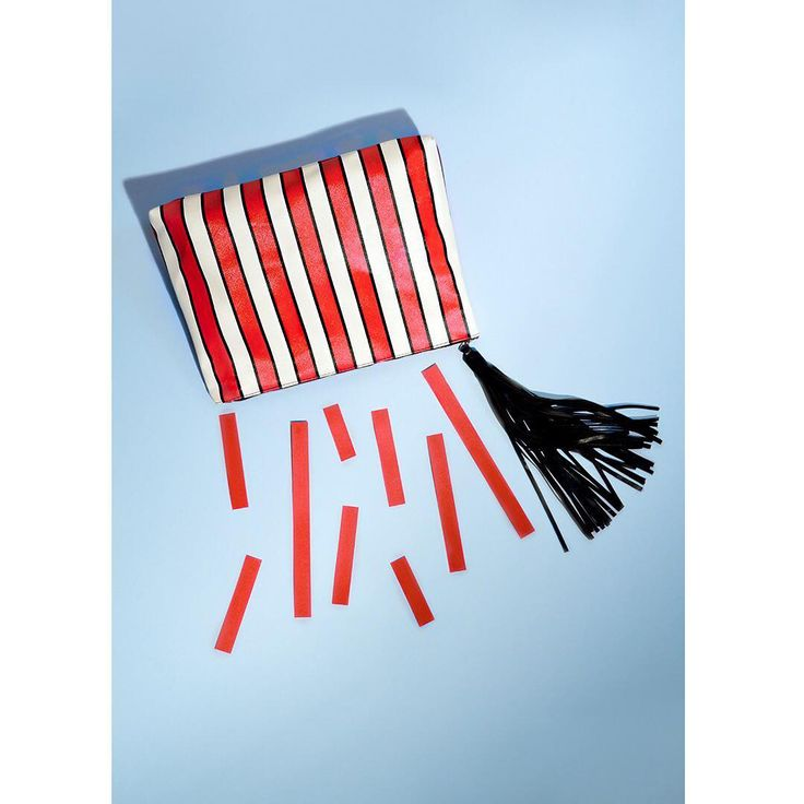 """Cirque de Solei? Cirque de Beaute! We designed this carnival-ready, super striped pouch for @saks and it was quite the crowd pleaser 🎪🤹🏻♀️ #byverge #vergecreativegroup  Pinned from Verge Creative Group's Pinterest Board """"Created By Verge"""" - which showcases our designs our in the real world from concept to creation."""