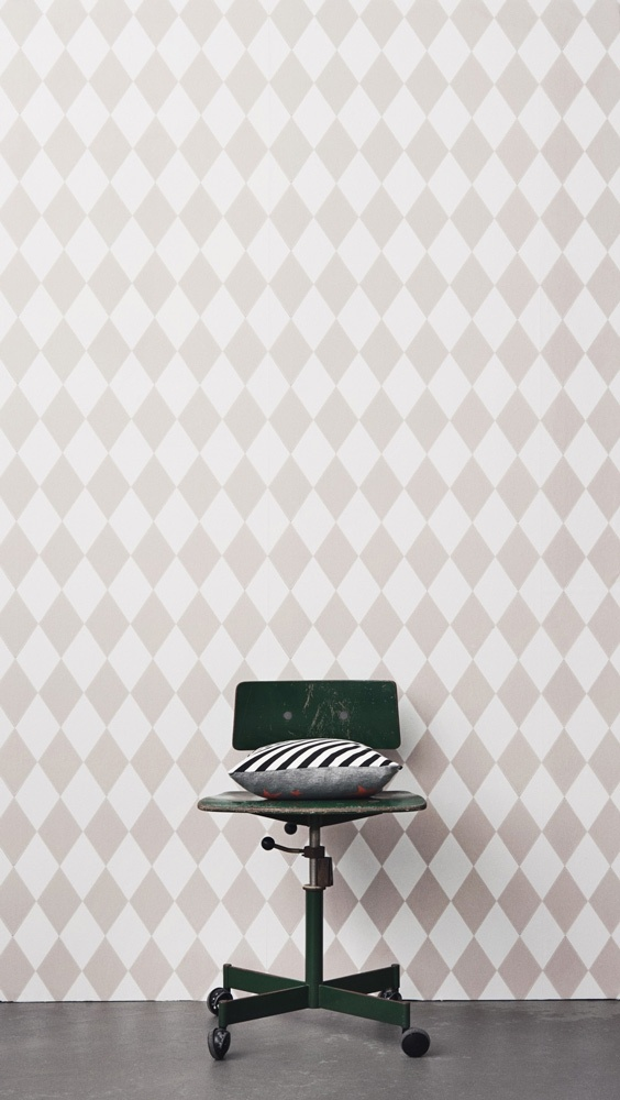 Harlequin Grey Wallpaper from ferm LIVING. #wallpaper #design #pattern
