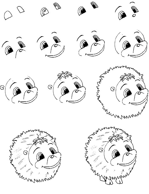 cartoon critters - learn to draw lessons