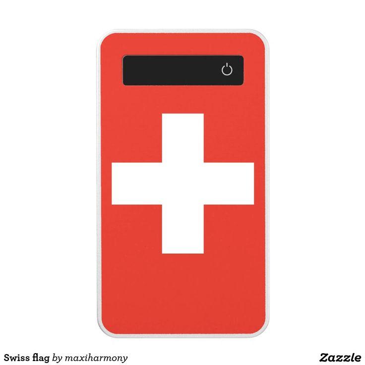 Swiss flag power bank