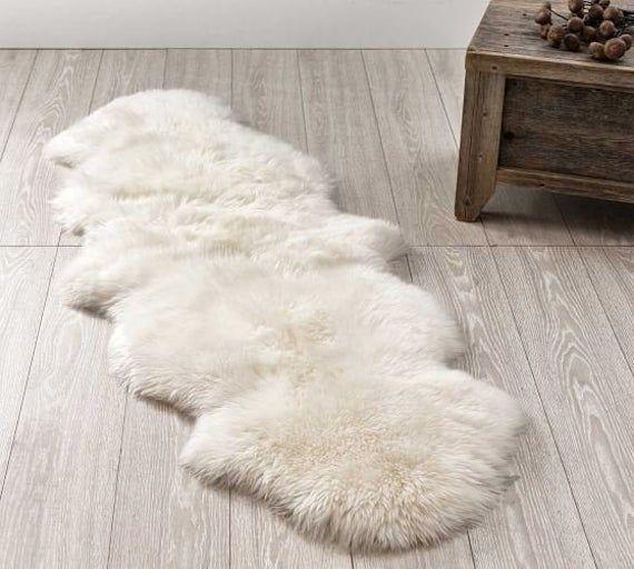 Genuine Real Australian Sheepskin Rug Double Pelt Ivory White Etsy In 2020 White Sheepskin Rug Sheepskin Rug Rugs