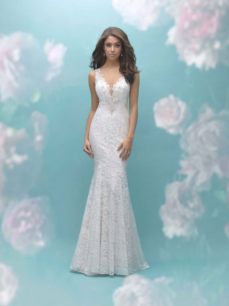 This multilayered tulle ballgown is a dream come true, with draped strings of beading across the open back. FABRIC: Tulle, English Net, Beaded EmbroideryCOLORS: Pink/Champagne/Ivory/Nude, Ivory/Nude, White/NudeSIZES: 2 - 32     Allure U.S. Pricing InformationAllure Bridals and Allure Modest range in price with the corresponding intricacy, detailing and fabrics used. The Allure Bridals collection is priced below:Allure Bridals: $1,000 - $2,500 If you would like to or...