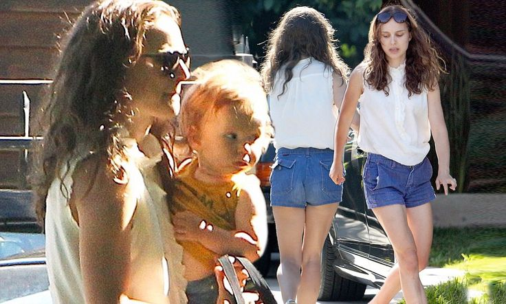 The 31-year-old, who underwent months of dance training for her 2010 Oscar-winning role in Black Swan, showed off her muscular yet slender legs in the denim Daisy Dukes.