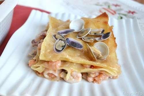 Ricette Pasta Lasagne ai frutti di mare
