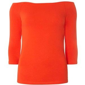 Dorothy Perkins Red Bardot Top