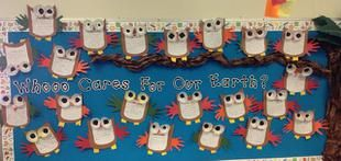 Whooo Cares About the Earth? | Earth Day Bulletin Board